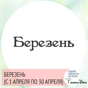 Березень (с 1 апреля по 30 апреля)