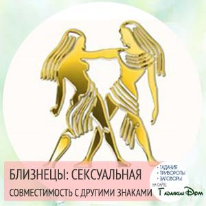 Сексуальная совместимость по знакам зодиака Близнецы