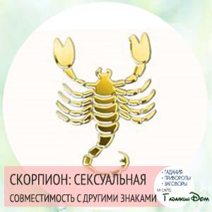 Сексуальная совместимость по знакам зодиака Скорпион