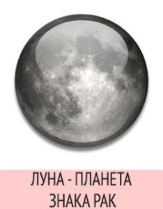 Луна - планета Рака