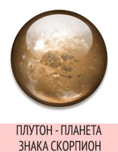 Плутон - планета Скорпиона