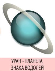 Уран - планета знака Водолей