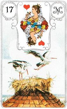 изображение карты ленорман аист (дама червей)