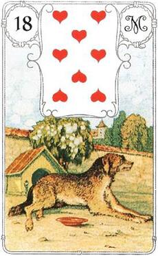 изображение карты ленорман собака восемь червей