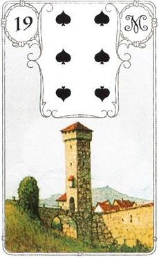 изображение карты ленорман башня шестерка пик