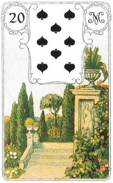 изображение карты ленорман сад парк восьмерка пик