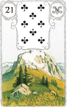 изображение кары ленорман гора восьмерка треф