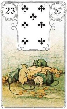 изображение карты ленорман крысы семерка треф