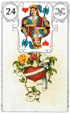 изображение карты ленорман сердце валет червей