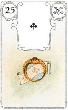 изображение карты ленорман кольцо туз треф