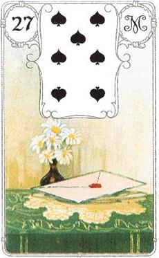 изображение карты ленорман письмо семерка пик