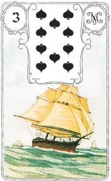 изображение карты ленорман корабль