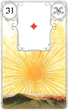 изображение карты ленорман солнце туз бубен