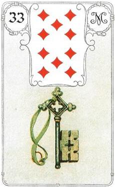 изображение карты ленорман ключ десятка бубен