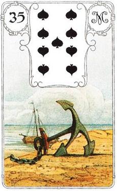 изображение карты ленорман якорь девятка пик