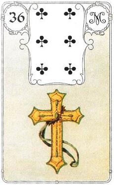 изображение карты ленорман крест шестерка треф