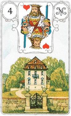 изображение карты ленорман дом