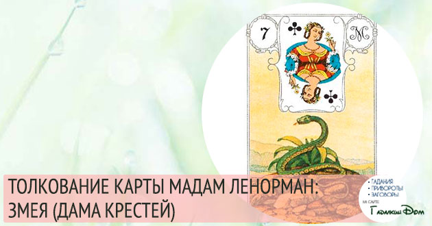 значение карты мадам ленорман змея дама треф