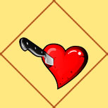 Карта Сердце с ножом