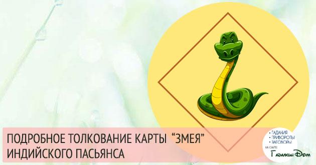 Символ «Змея» в гадании Индийский Пасьянс