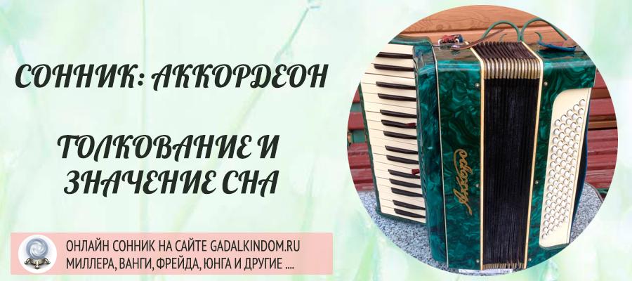 Сонник аккордеон