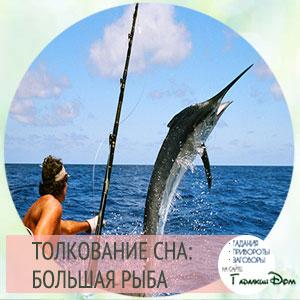 видеть большую рыбу во сне