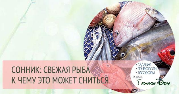 к чему снится рыба свежая женщине