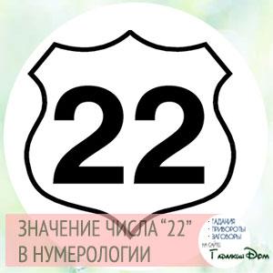 Число 22 в нумерологии: значение и толкование