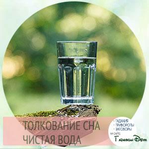 сонник чистая прозрачная вода