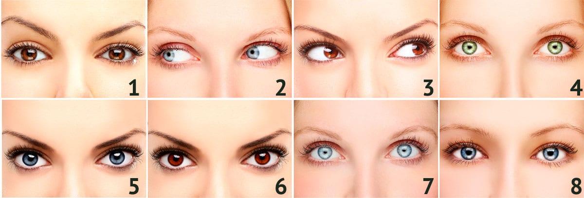 форма глаз и характер