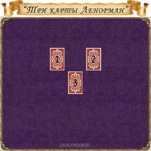гадание Три карты Ленорман