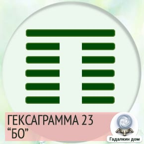 23 Гексаграмма