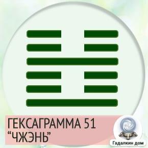 51 Гексаграмма