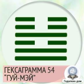 54 Гексаграмма