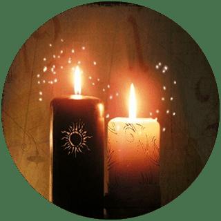 Гадание да-нет На две свечи