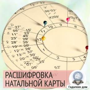 как расшифровать натальную карту