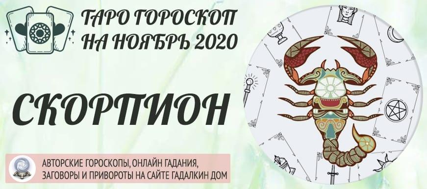гороскоп таро на ноябрь 2020 скорпион