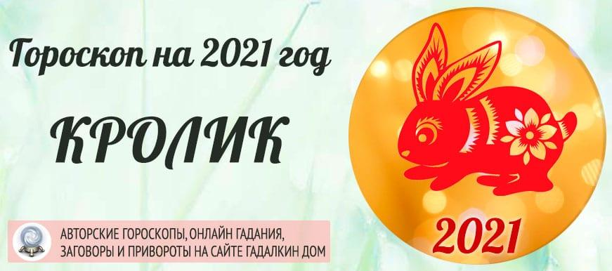Гороскоп на 2021 год Кролик (Кот)