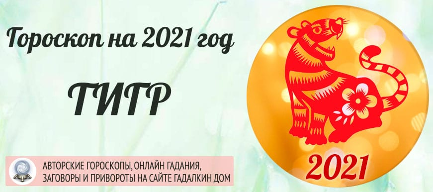 Гороскоп на 2021 год Тигр