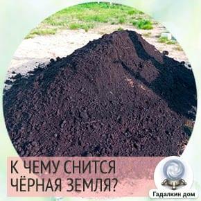 к чему снится земля черная рыхлая