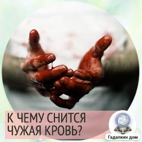 сонник кровь чужая