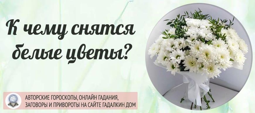 К чему снятся белые цветы