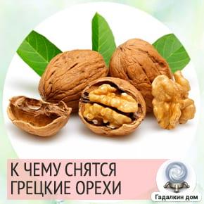 к чему снятся грецкие орехи в скорлупе