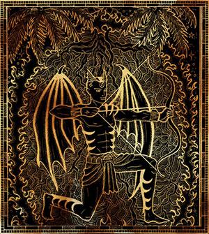 Стрелец - демон Нахаширон.