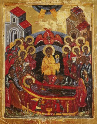 Икона Успения Пресвятой Богородицы.
