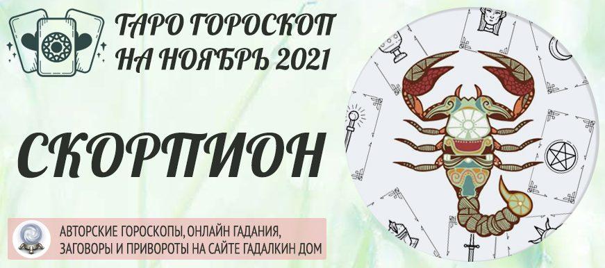 гороскоп таро на ноябрь 2021 скорпион