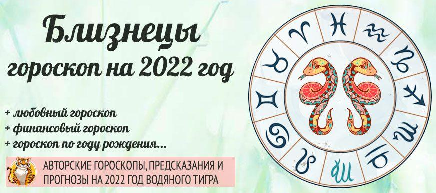 гороскоп на 2022 Близнецы женщина и мужчина