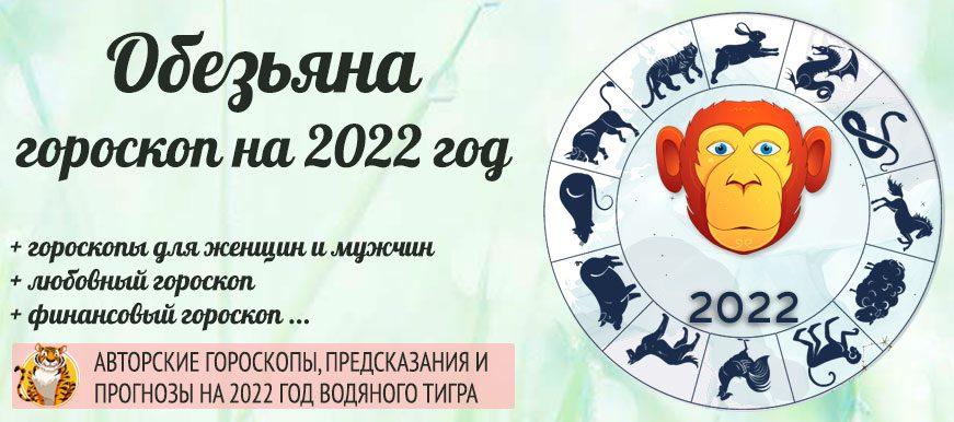 гороскоп обезьяна 2022 год