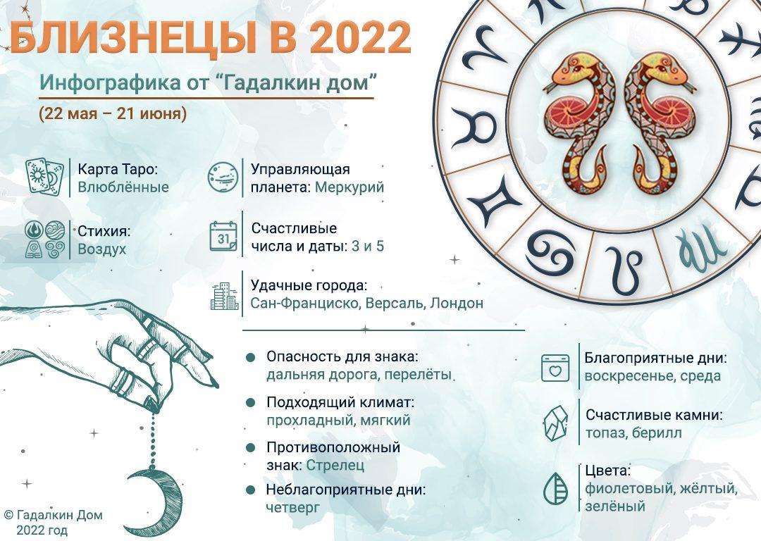 инфографика Близнецы 2022