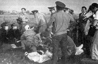 Приземление Леонова и Кубасова.